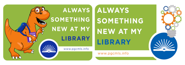 Newly designed children and adult library cards