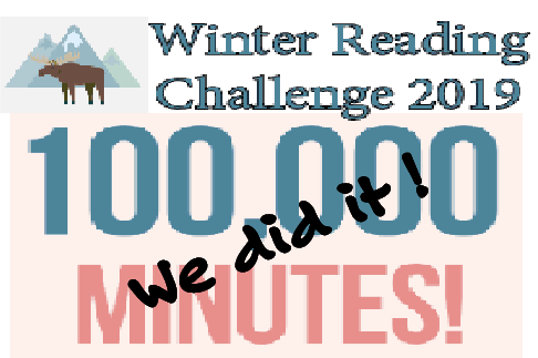 Winter Reading Challenge: We did it! graphic