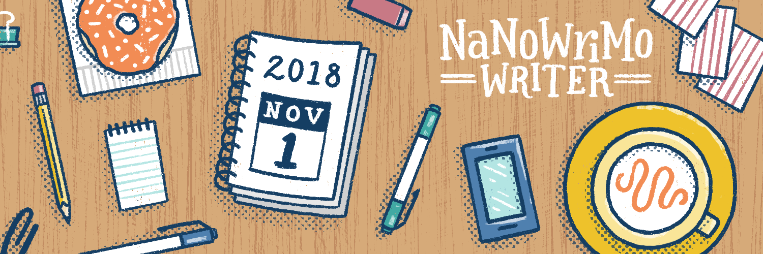 NaNoWriMo - National Novel Writing Month graphic