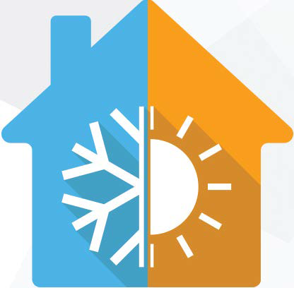 Home heating and cooling icon