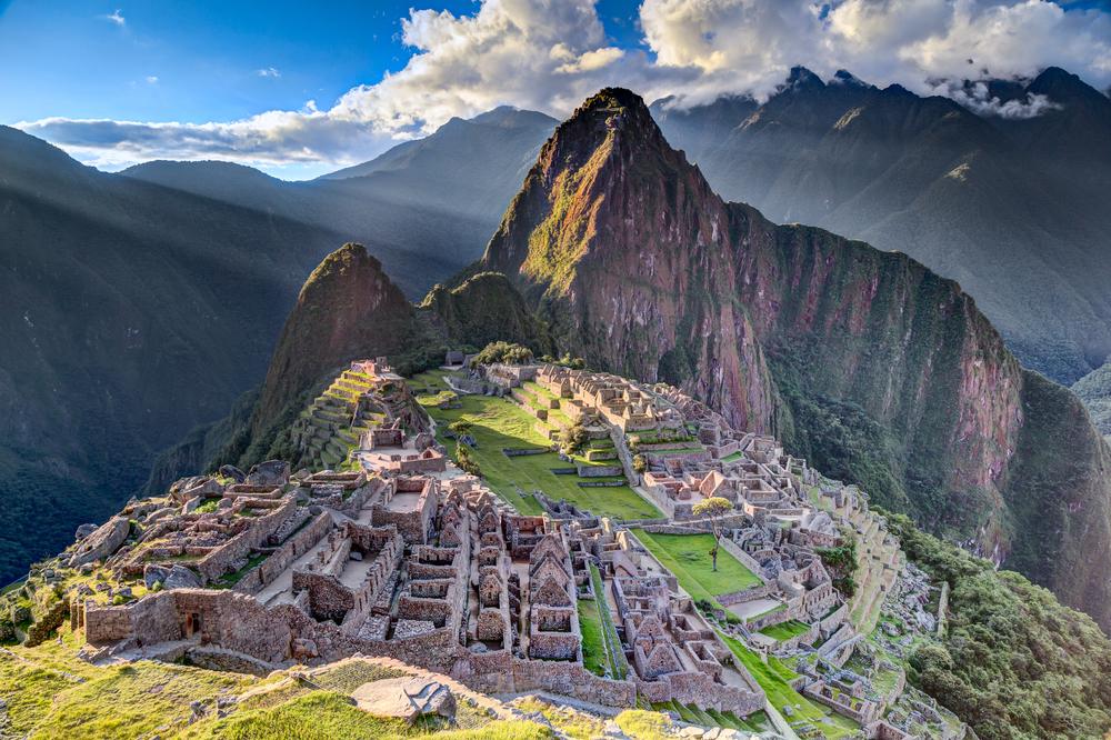 Panorama view of Machu Picchu in Peru photo