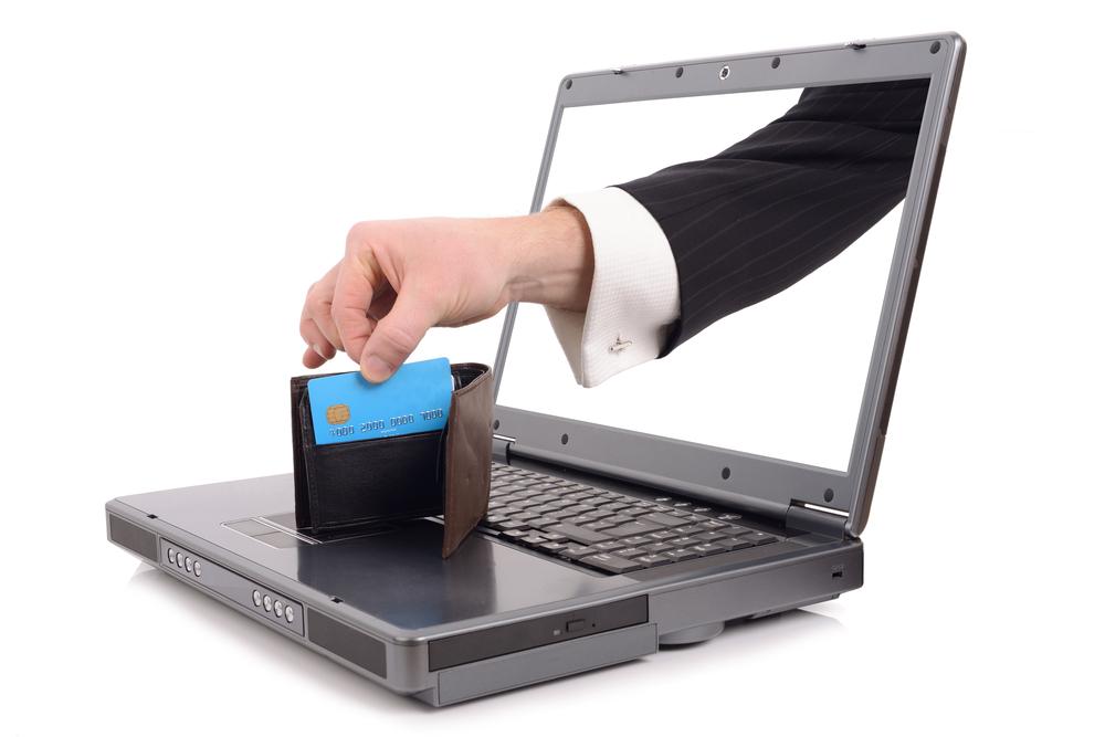 Hacked computer credit information being stolen