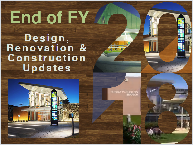 FY'18 Design, Renovation, Construction infographic