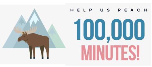 100,000 Minutes Winter Reading Challenge