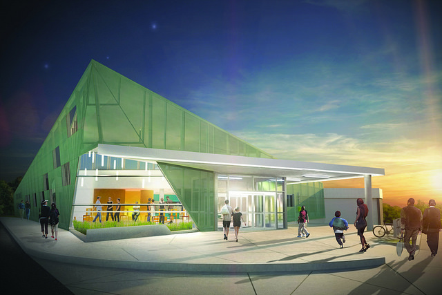 New Carrollton Branch Library rendering