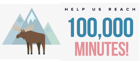 100,000 Minutes - Winter Reading Challenge graphic