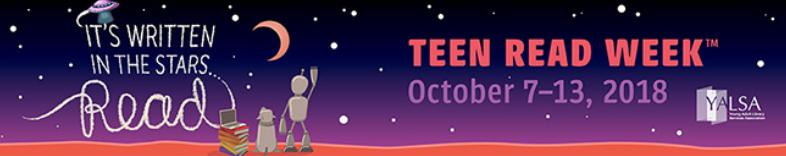 Teen Read Week 2018 banner