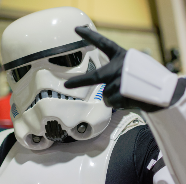 Star Wars Storm Trooper costume _editorial use only Shutterstock